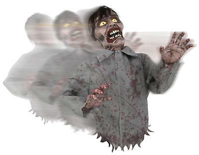 VIDEO! Animated Bump Go Zombie HALLOWEEN DECOR PROP OUTDOOR HAUNT SOUND MOTION - Zombie Halloween Sounds