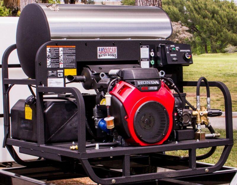 American Waterworks 503537E Hot Water Pressure Washer Skid