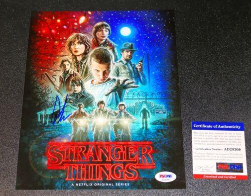 Caleb Mclaughlin SIGNED Stranger Things AUTOGRAPHED Lucas 8X10 Picture PSA JSA