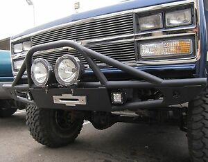 OFF ROAD FRONT WINCH BUMPER - FITS CHEVY GMC K5 BLAZER & TRUCK 1973-1991 YEARS