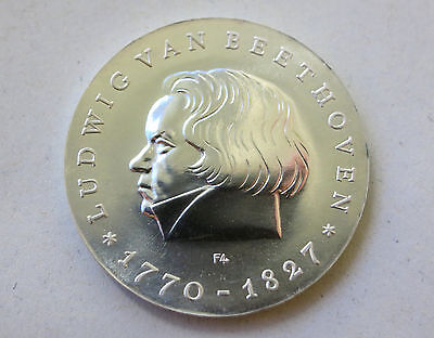 10 Mark DDR 1970 - Ludwig van Beethoven Silber stgl.
