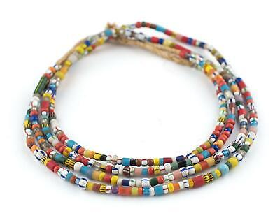 Mixed Vintage Christmas Beads Kumasi Medley 5mm Ghana African Multicolor Glass ()