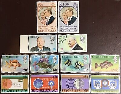 Seychelles 1973-74 4 Commemorative Sets Mostly MH