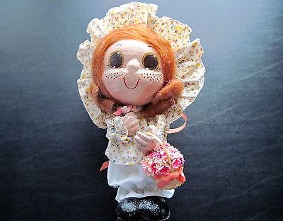 Vintage papier mache folk art doll for Papier mache art for sale