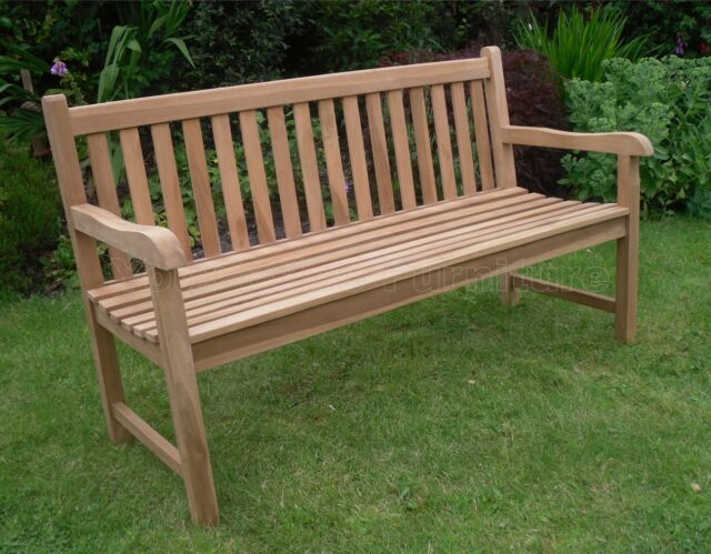 Garden Furniture Very java 3 seat teak bench 150cms 5ft garden furniture very slight