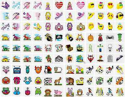144 x CHILDRENS TEMPORARY TATTOOS TRANSFERS SCHOOL FAIR FETES PARTY BAGS TOYS
