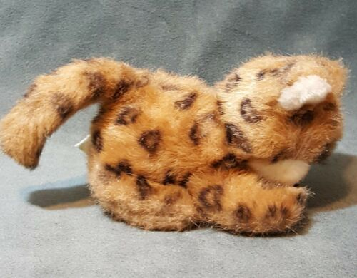 "Vintage Animal World Wallace Berrie Leopard Cub Plush Stuffed Wild Cat 6"""