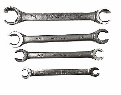 4 PC. SAE Flare Nut Wrench Set MADE IN USA FAST N' FREE SHIPPING! ()