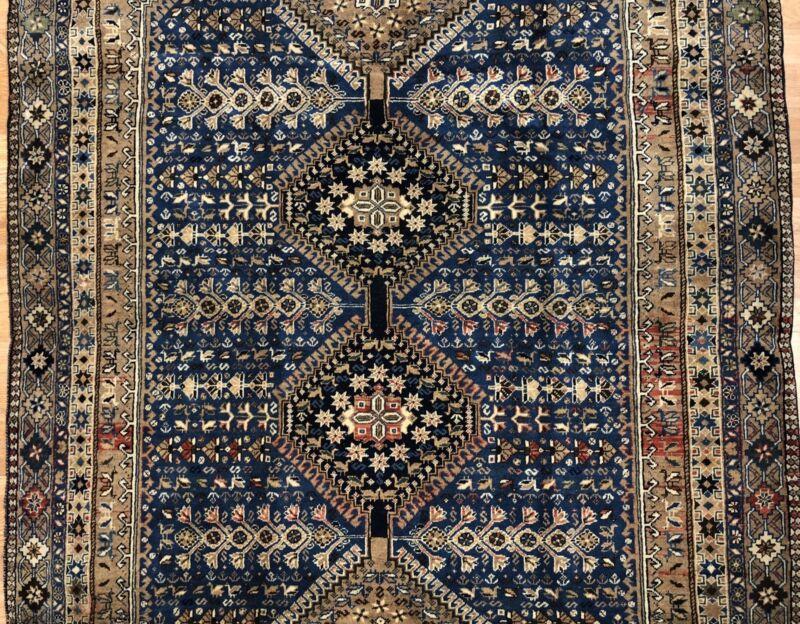 Tremendous Tribal - 1940s Antique Oriental Rug - Nomadic Carpet - 5 X 8.1 Ft.
