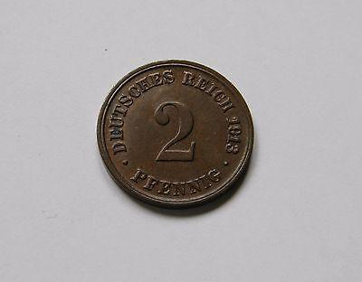 KAISERREICH: 2 Pfennig 1913 D, J. 11, stempelglanz