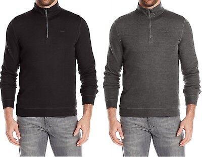 Calvin Klein Men's Quarter Zip Mock Neck French Rib Pullover Long Sleeve Sweats