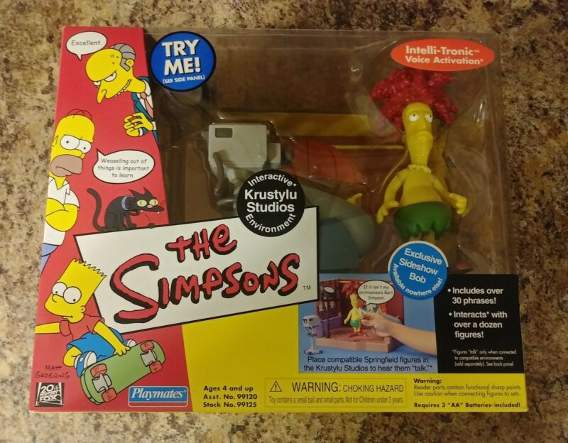 Simpsons KrustyLu Studios Interactive playset with Sideshow Bob