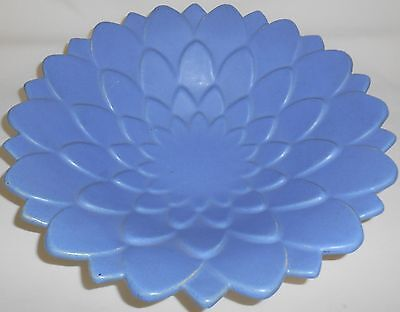 RARE! Very Large BLUE MATTE Camark CONSOLE/SALAD/CENTERPIECE Bowl