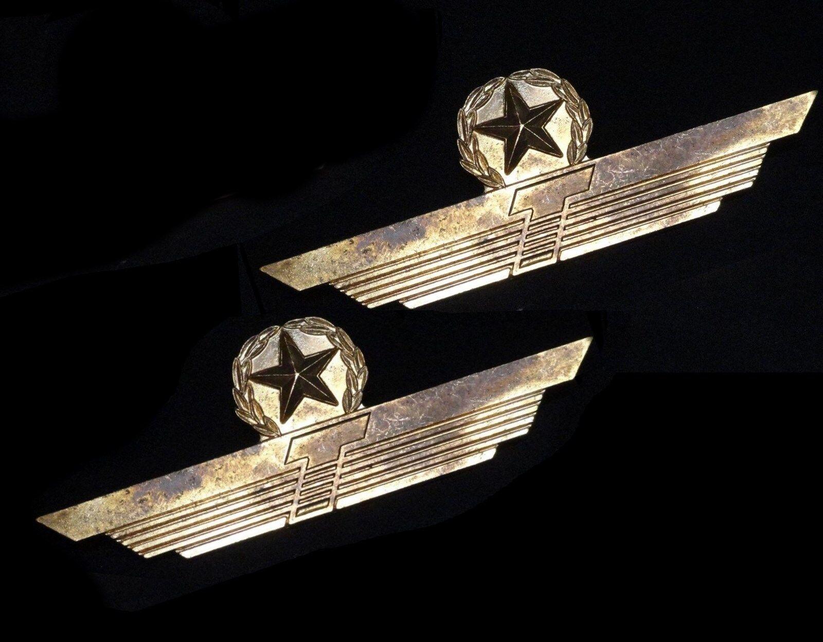 Details about ( 2 ) RARE Vintage Obsolete Donald TRUMP AIRLINES * PILOT  CAPTAINS UNIFORM WING