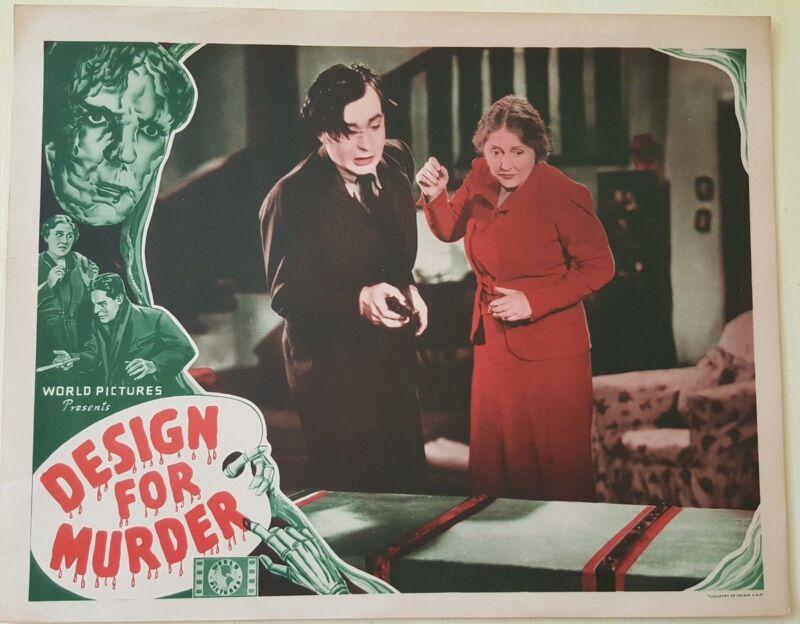 Original Lobby Card,DESIGN FOR MURDER 1939 FILM v2