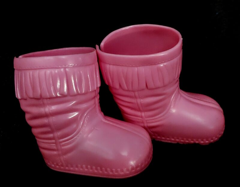 Vtg Fisher Price Little Mommy Pink Plastic Suede Fringe Boots Shoes Replacement