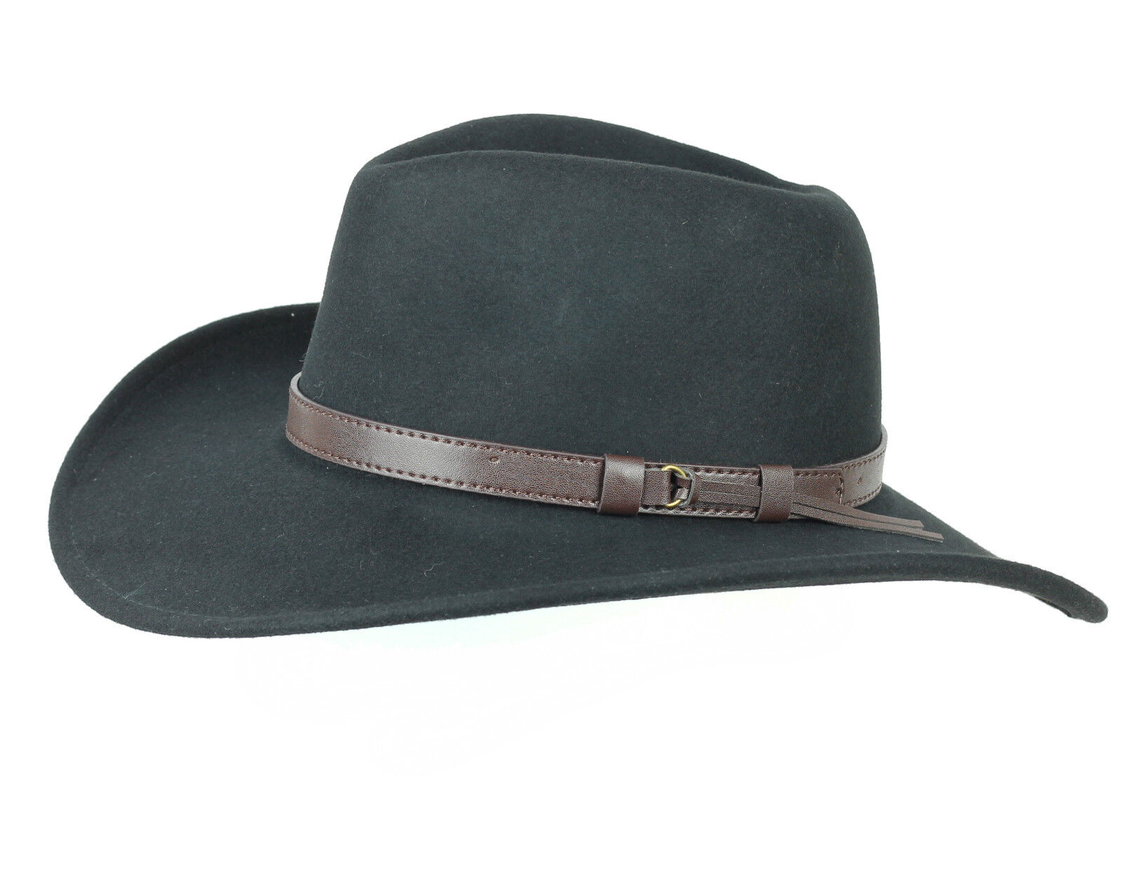 58023bfb2e0 Unisex Mens Women Vintage Luxury 100% Wool Big Brim Cow Boy Fedora Hat 4  Sizes