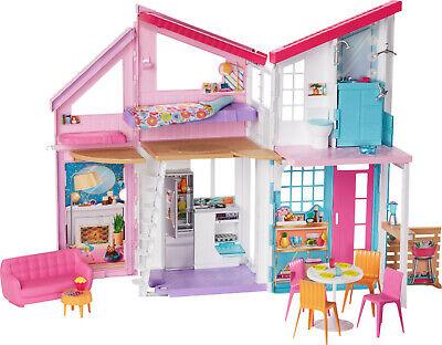 Barbie FXG57 Malibu House Playset 2 Story 6 Room 25+ Accessories Brand New Box
