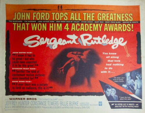 "Movie Poster- ""Sergeant Rutledge,"" 1960, Racist Advertising."