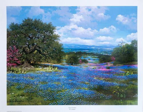 "W. A. Slaughter, Rare Limited Edition Print, Landscape, ""Texas Grandeur"""