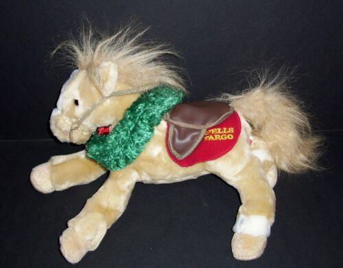 Wells Fargo Bank Buck Tan Plush Legendary Horse Pony Christmas Wreath Stuffed
