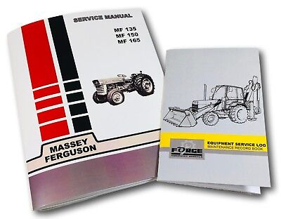Massey Ferguson 135 150 165 Tractor Service Repair Manual Maintenance Log