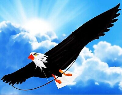 """The Mighty Bald Eagle 3D Kite with 6'- 6"""" (78 Inch) Wing Span Premium Material"""