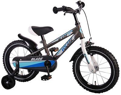 14 Zoll Fahrrad Qualitäts Kinderfahrrad mit Stützrädern Jungen Kinderrad Blade