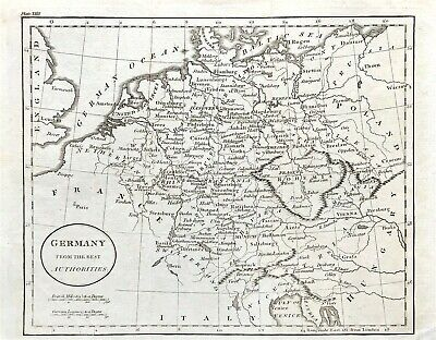 Map of GERMANY c1795 by Guthrie, original copper engraved fine detailed map