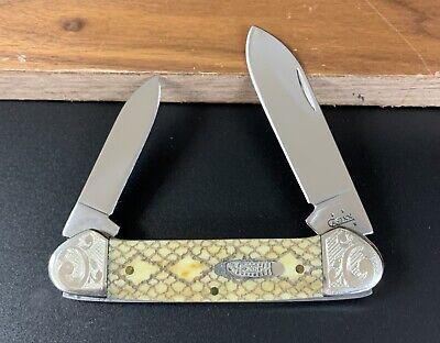 Case XX 62131 Diamond Back Rattlesnake Canoe 2006 Scrolled Bolsters Knife