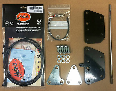 Harley Davidson Softail Fußrastenanlage 8cm vorverlegt ab 2000 - 2006 TÜV!!!