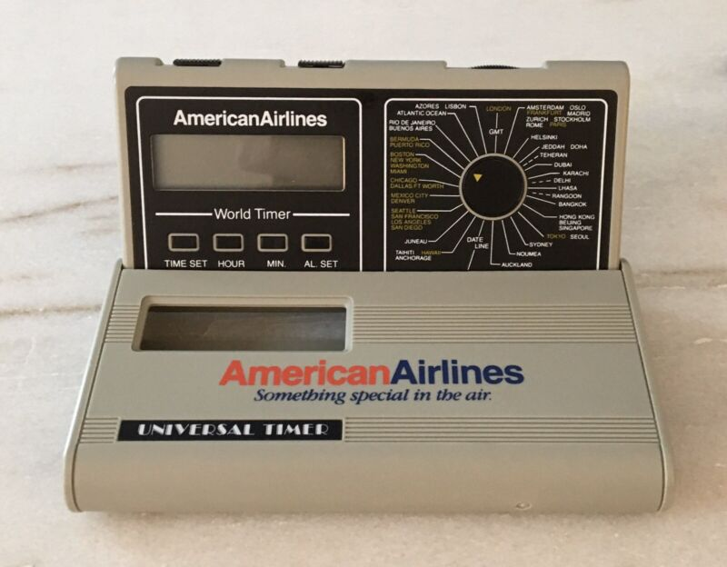 Vintage American Airlines Universal World Timer
