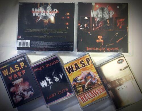 "6x HEAVY METAL Lot: WASP DCD""LIVE""+4xMC""WASP/FIRST BLOOD/HELLDORADO/KFD"" RARE!!!"