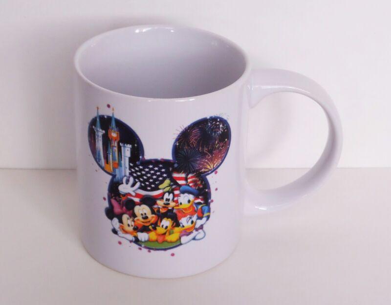 Disney - Mickey & Friends - Patriotic Fireworks Castle Mickey Icon Ceramic Mug