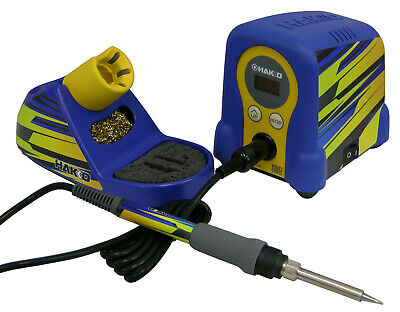Hakko Fx888d-23by Digital Soldering Station Incl All New Blueyellow Flame Decal