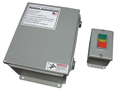 Elimia Remote Switch Machine Motor Starter 230v 17 - 25 Amp 7.5 Hp Nema 12 New