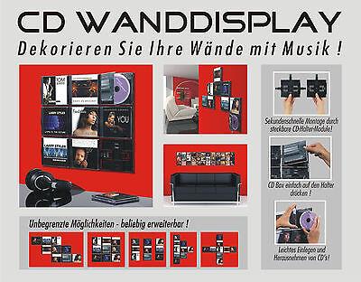 CD Wanddisplay / CD Wandhalter / CD Halter für 9 CD´s - Zur Wandpräsentation
