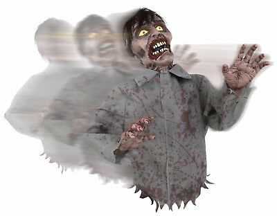 Animated Bump and Go Zombie  Sound Prop Halloween Decor Poseable Arms (Halloween Props And Decorations)