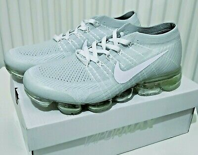 Nike Air Vapormax Flyknit Light Grey 9UK / 44EU Running Shoes Men Sneakers