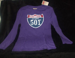 levi 39 s t shirt manches longues garcon taille 12 ans violet. Black Bedroom Furniture Sets. Home Design Ideas