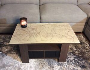 Coffee table with Halifax map