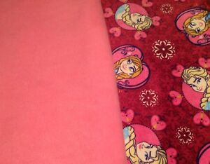 Frozen and pink soft fabric