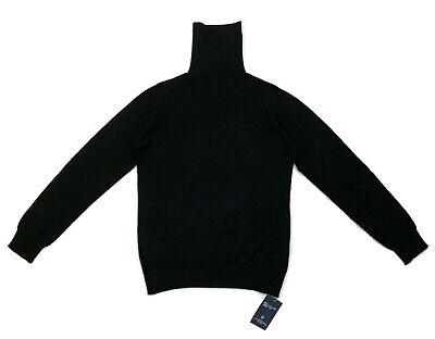 Johnstons Of Elgin Jumper Ladies Wool Turtleneck - Black - Medium - RRP £195 New