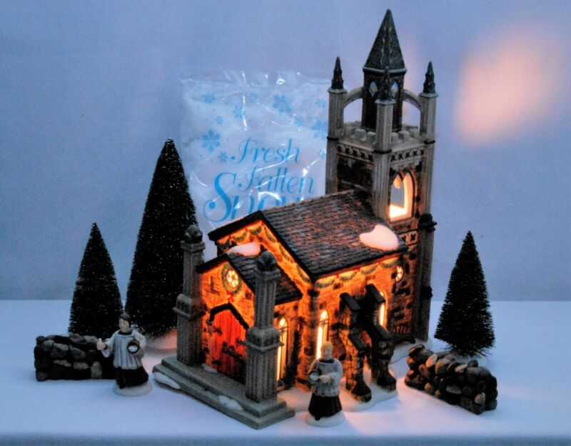Dept 56 Dickens Village Somerset Valley Church Christmas Free shipping