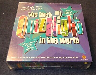Best Quiz Night in the World game- 100% complete-  CD Rom- for computer (Best Games In The World For Kids)