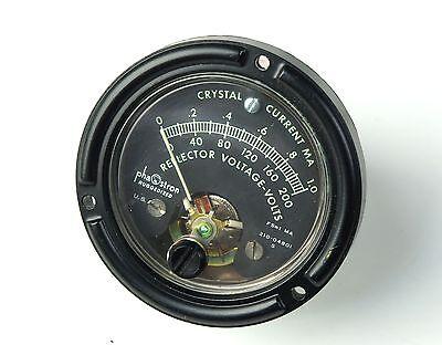 Phaostron Mil-prf-103045 Milspec 2.5 Panel Voltmeter Ammeter 200 Vdc 1.0 Ma