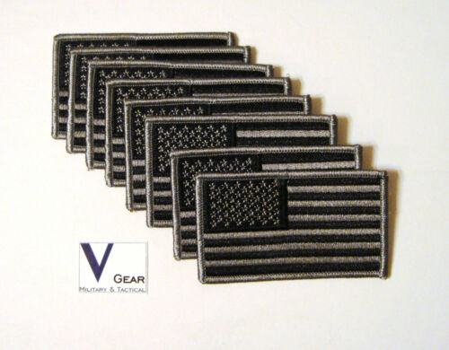 US USA American Flag patch SUBDUED BLACK and GRAY  **LOT of 50**