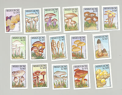 Sierra Leone #1313-1328 Mushrooms 16v Imperf Proofs