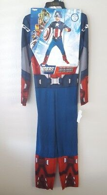 Toddler Captain America Avengers Muscle Halloween Costume Size 7-8 NWT
