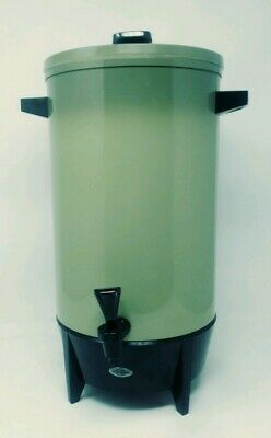 VINTAGE West Bend Avocado Green  Insulated 36 Cup Automatic Coffee Percolator